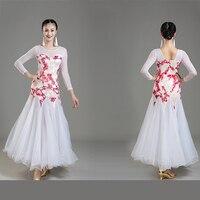Modern Dance Costumes Ballroom Dancing Dress Women Standard Ballroom Dance Dress for Waltz/tango Performance Competition Dress