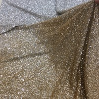 gold champagne & and silver ash two colors african lace fabric stretch spandex mesh lace stage shining fabric outstanding