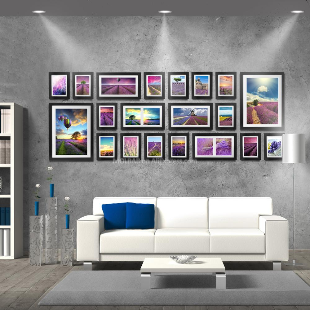 MOLBAB Holz Foto Rahmen Galerie Wand 20 teile/satz Große Moderne ...