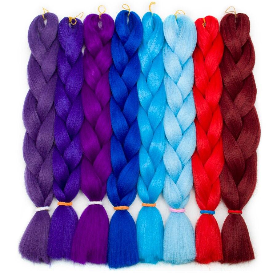 ᗚAigemei Ombre trenzado cabello 100 g/unid 24 pulgadas Kanekalon ...