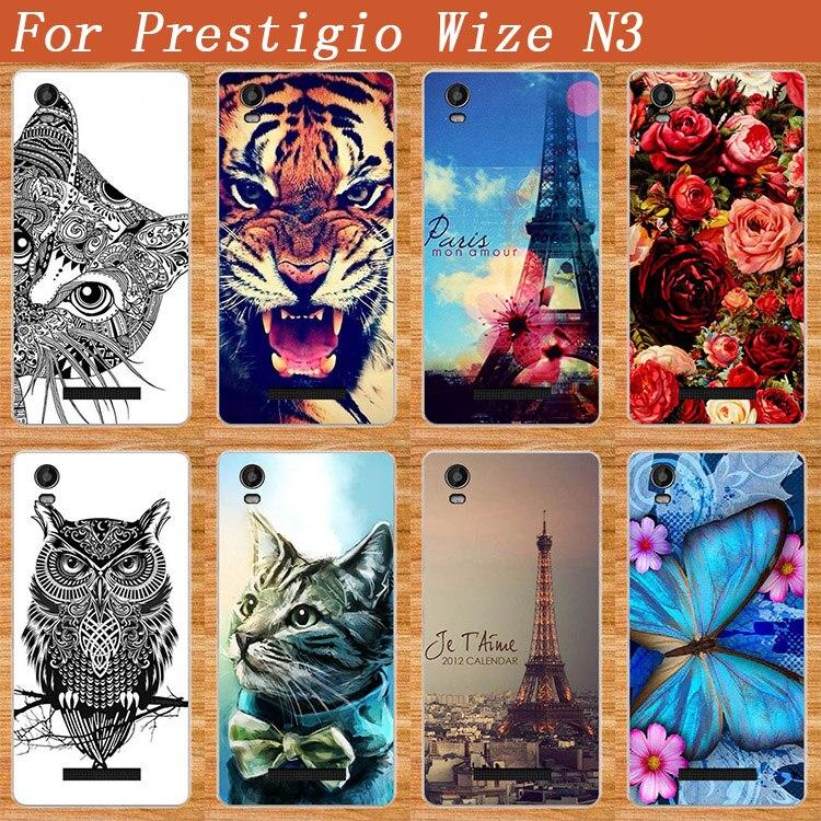 Новое поступление случае цветок башня Животные стилей силиконовый чехол для Prestigio Wize N3 psp3507duo/Prestigio Wize M3 psp3506duo
