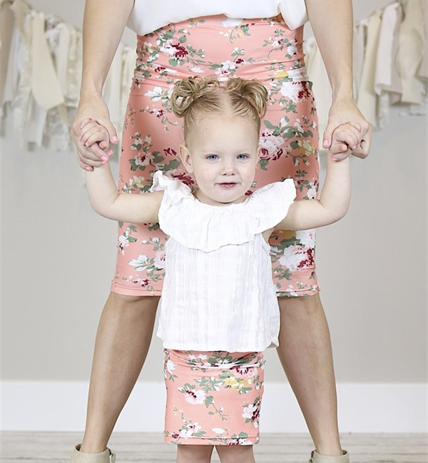 2018 Floral Family Matching Clothes Women Mother Kid Family