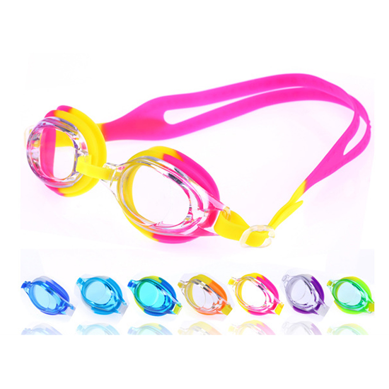 Children Colorful Swimming Goggles Swim Eyewear Waterproof Anti Fog Swim Glasses Silicone Swimming Diving Glasses With Box