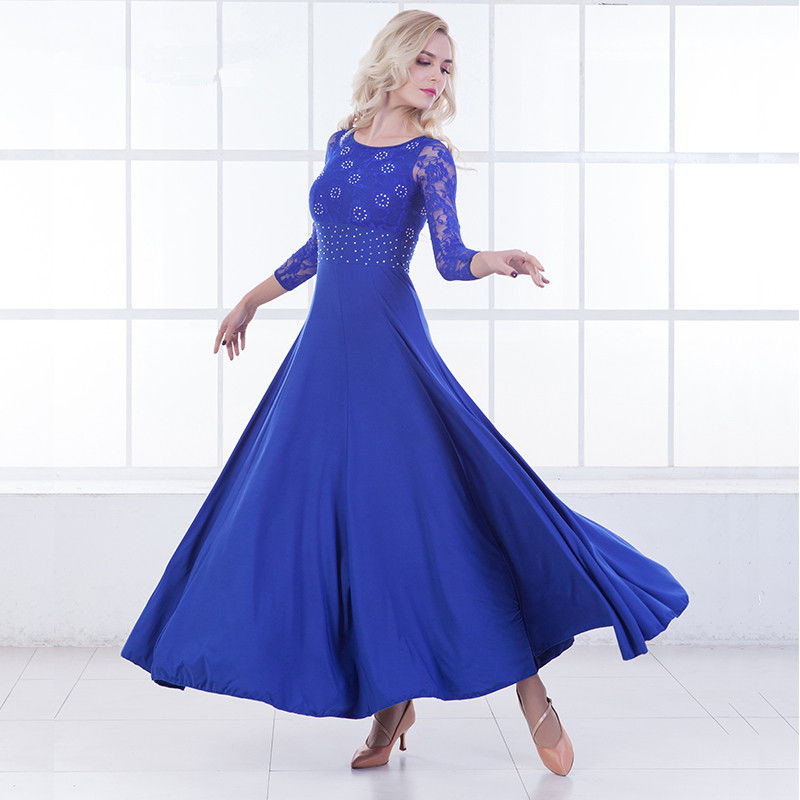Modern Dance Dress Long Sleeve Ballroom Dancing Will Pendulum Dress Ballroom Dancing Waltz Dress