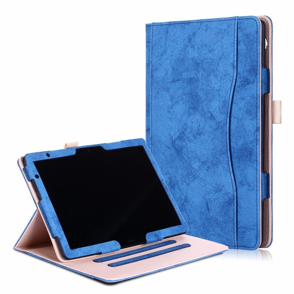 Per Il caso di Huawei mediapad M5 Lite 10 BAH2-W19/L09/W09 Smart Cover per Huawei T5 10 AGS2-W09/ l09/L03/W19 10.1 pollice Tablet caso
