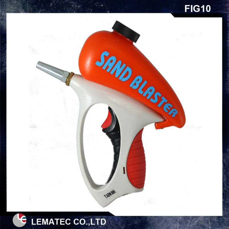 LEMATEC Ergonomic Sand blasting Gun mini sandblaster sandblasting gun Taiwan made air tool for rust oil