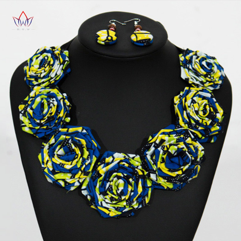 2020 Choker Necklace Sets For Women Statement Necklace Rope Chain Bohemia Blue Flower Necklaces & Pendants For Mujer BRW WYB63