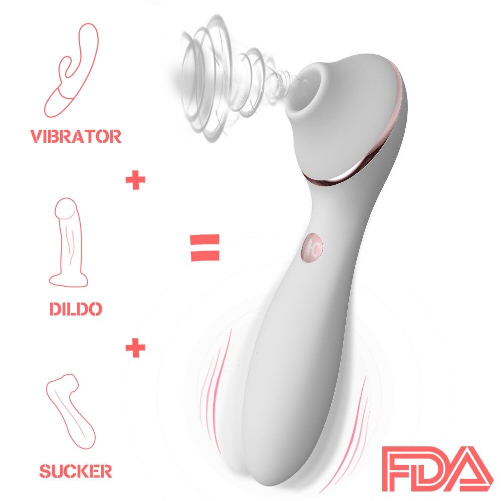 Nipple Sucking Vibrator Dildo Vibration 13 Speed G Spot Clitoris Stimulation Erotic -9397