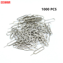1000PCS for IPhone Sim Card Tray Open Eject Ejector Pin Key for IPhones X 8 7 6 Plus Huawei P20 P9 Pro Lite Samsung Galaxy S8 S9