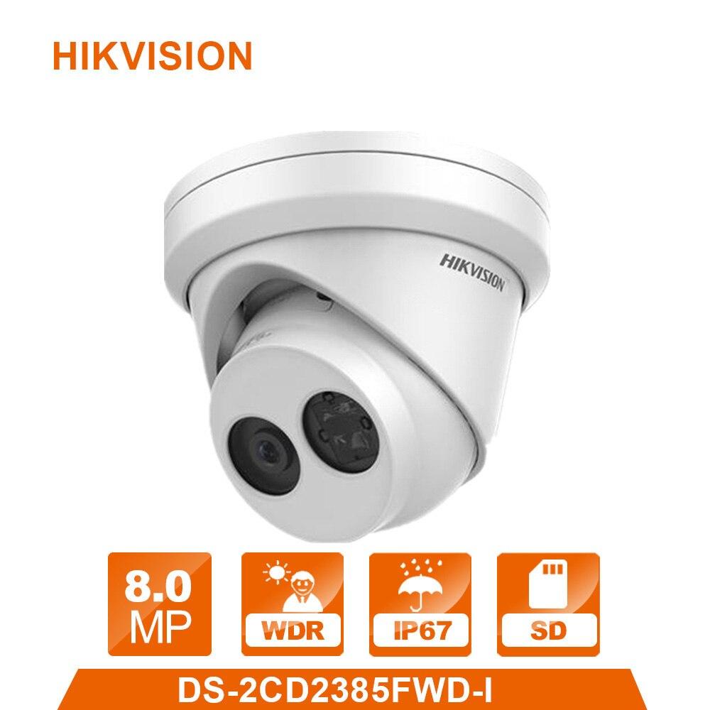 HiK D'origine DS-2CD2385FWD-I H.265 CCTV IP Caméra 8MP Réseau Tourelle Caméra Intégré SD emplacement pour cartes PoE IP 67 IR 30 m
