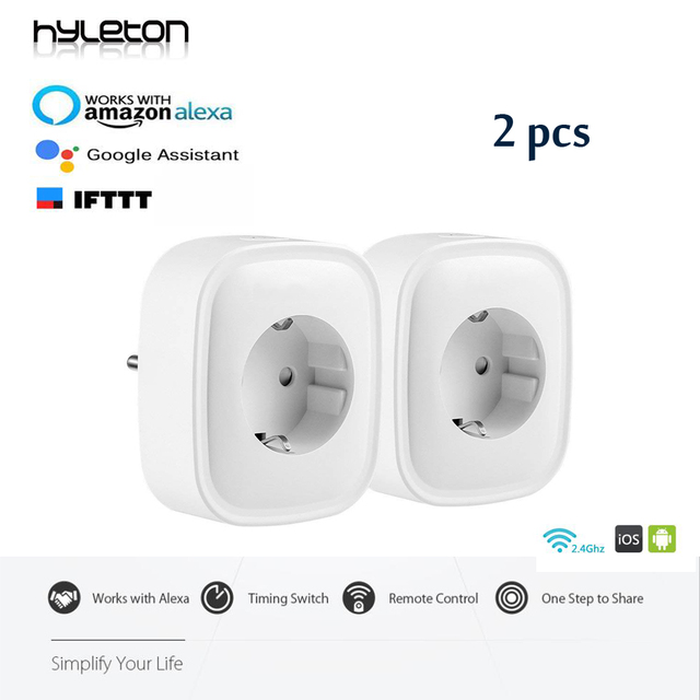 US $35 99 |Hyleton wifi plug EU Power Plug Wifi Smart socket Monitor Energy  Consumption Mobile APP Remote Control for smart home -in Smart Power