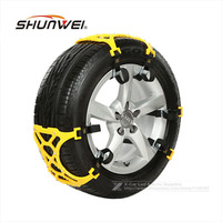 3Pcs Lot TPU Snow Chains Universal Car Suit 165 265mm Tyre Winter Roadway Safety Tire Chains