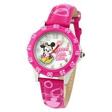 Disney бренда Детей Кварцевые часы 30 м водонепроницаемый Минни девушки Мультфильм Аниме дети часы