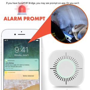 Image 4 - 3 Pcs עשן גלאי אלחוטי 433 MHz אש הגנת אבטחה מעורר חיישן לבית חכם אוטומציה, עבודה עם Sonoff RF גשר