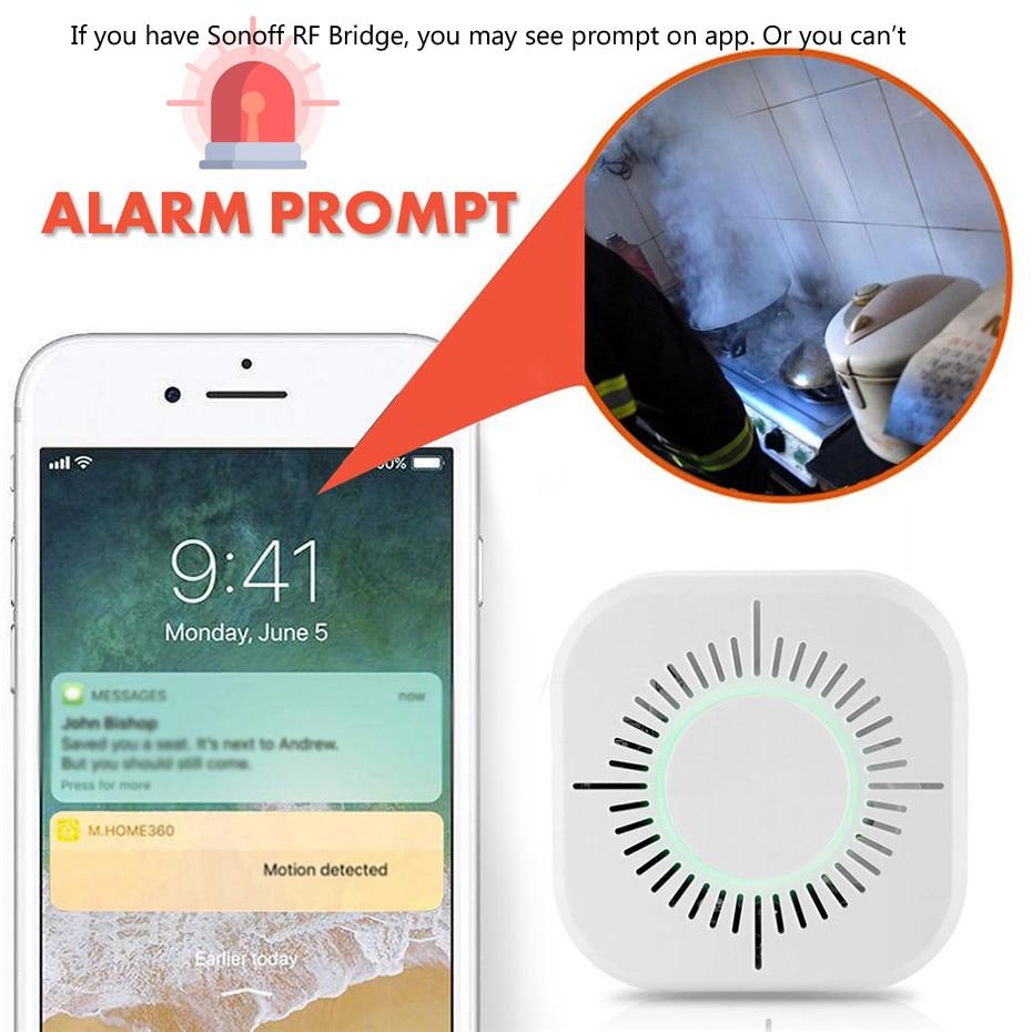Беспроводной детектор дыма 433 МГц, 3 шт., Датчик противопожарной безопасности для автоматизации умного дома, работает с радиочастотным мостом Sonoff