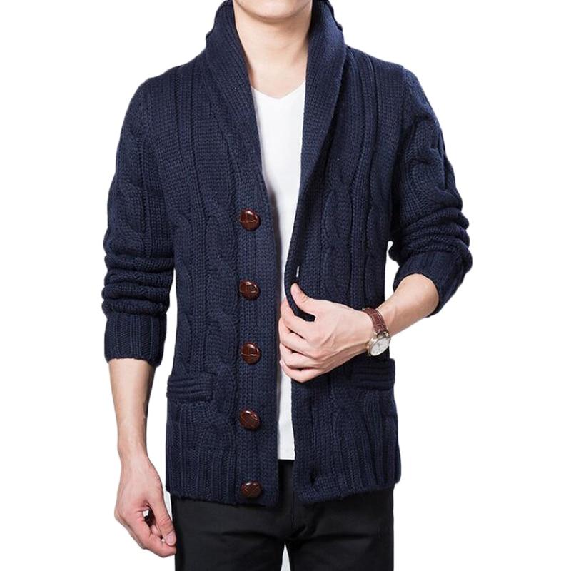 54cda1594c30f Cardigan men casual wool sweaters pull homme knitted cardigan big lapel  coat mens winter turn down