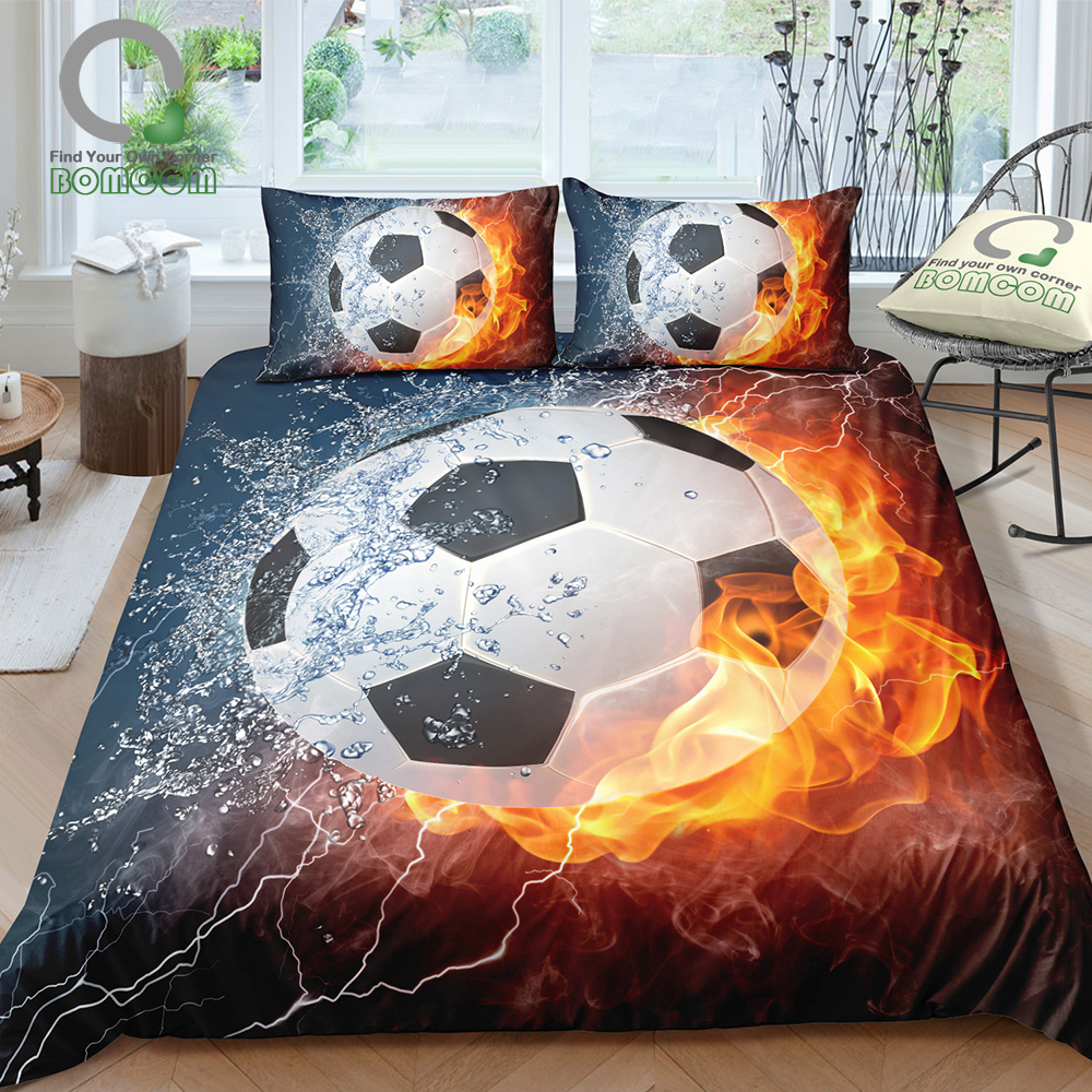Bomcom 3d Digital Printing Football Bedding Set Soccer