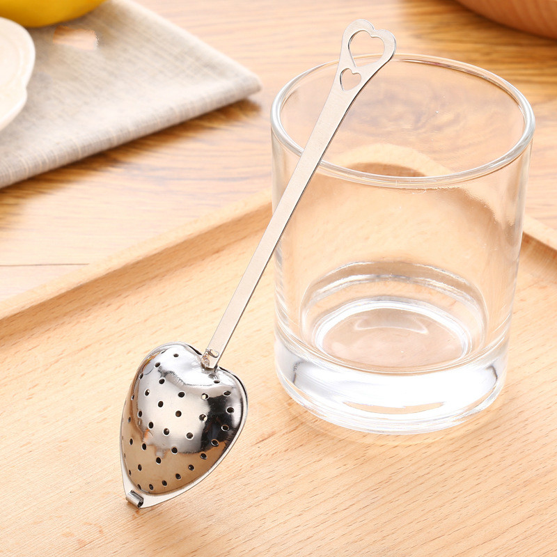 200 PCS Wholesale Hot Sale Love Heart Shape Style Stainless Steel Tea Infuser Teaspoon Strainer Spoon Wholesale DHL Sipping