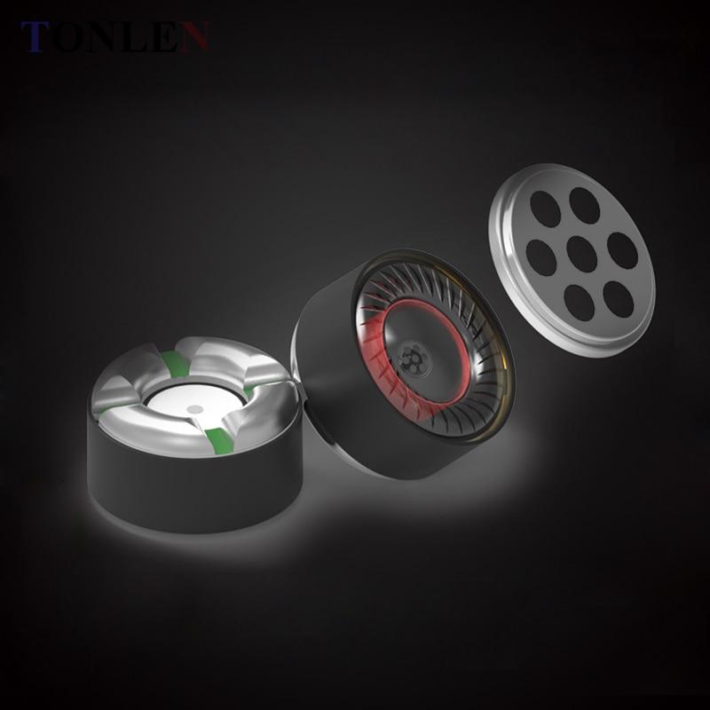 TONLEN 10pcs 8mm Earphone speaker In-Ear Headphones 16ohm HIFI DIY Bluetooth Headset Speaker Horn Unit Earphone Accessories