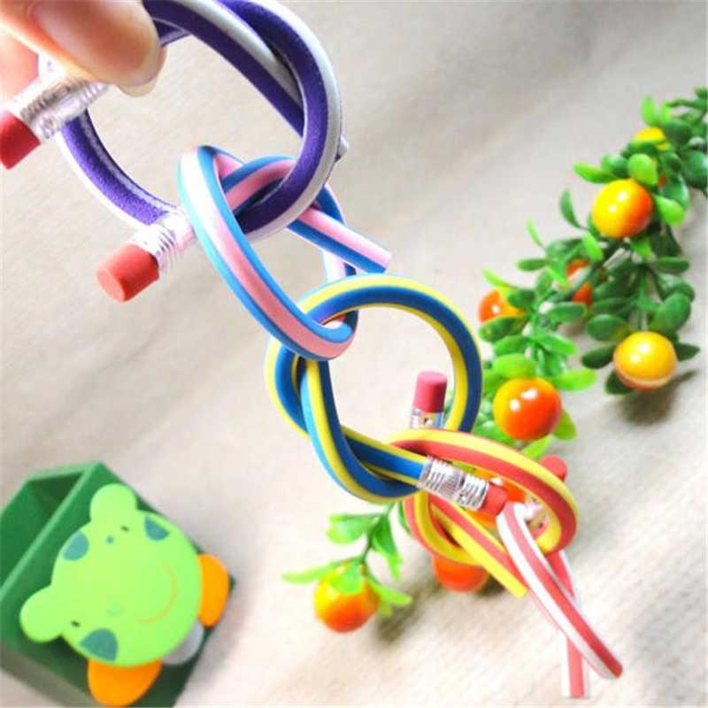 לכפיפה עיוות של צבע ממתקים חמוד רך קוריאני עפרונות עפרונות רגילים אספקת ציוד משרדי מכשירי כתיבה תלמיד ללמוד