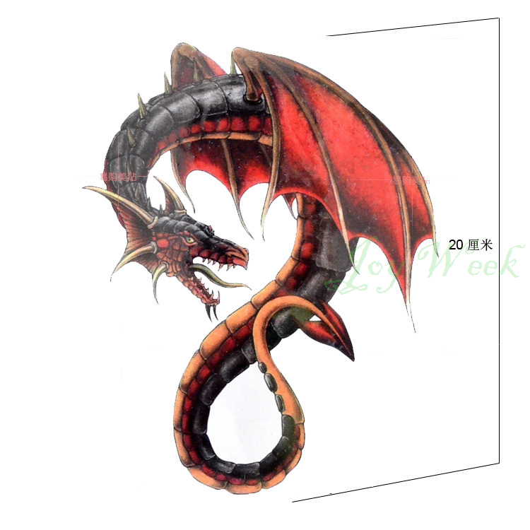Online buy wholesale fire dragon tattoos from china fire for Dragon fire tattoos