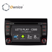 Ownice C500 Android Multimedia DVD Video Player for Fiat Bravo 2007 2008 2009 2010 2011 2012 Radio GPS Bluetooth 4G DVR 1024*600