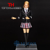 DIY Doll Toys 1/6 Scale Beautiful Female School Girl Full Set,Head Sculpt+Body+Clothing Accessories For 12