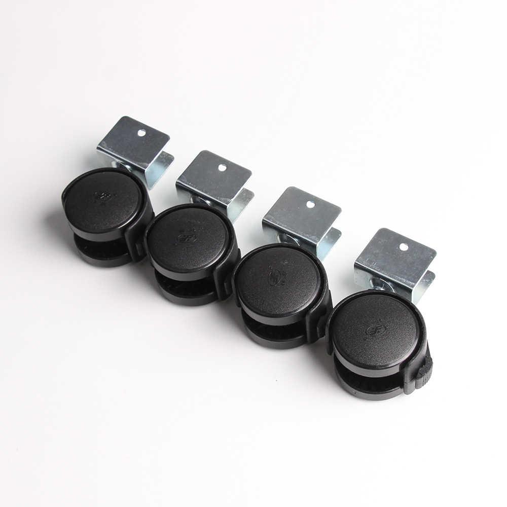 4 unids/lote ruedas de ruedas negras con freno para sillas de oficina cama  de bebé Carro con rueda ruedas de muebles