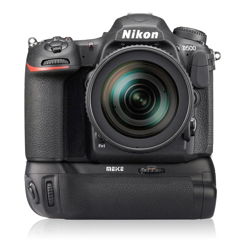 Meike MK D500 for D500 MB D17 Camera Compatible with EN EL15 Battery and AA Battery