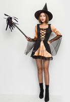 Halloween Woman Witch Dress Hat Adult Women Dress Up Roll Play Anime Games Cosplay Costume Party