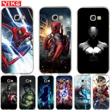 Luxury Marvel Avengers Heroes Case For Samsung A3 A5 A6 A7 A8 Plus 2015 2016 2017 2018 Soft Cover Case Coque Etui Fundas