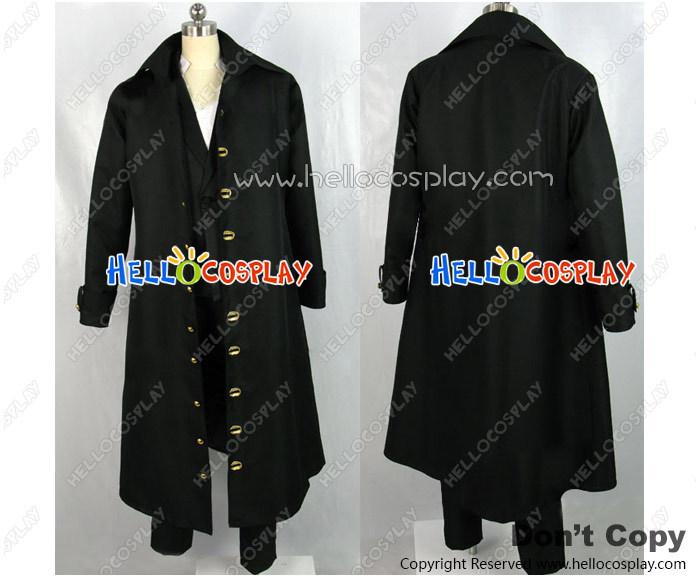One Piece Cosplay Costume Shanks Black Coat H008