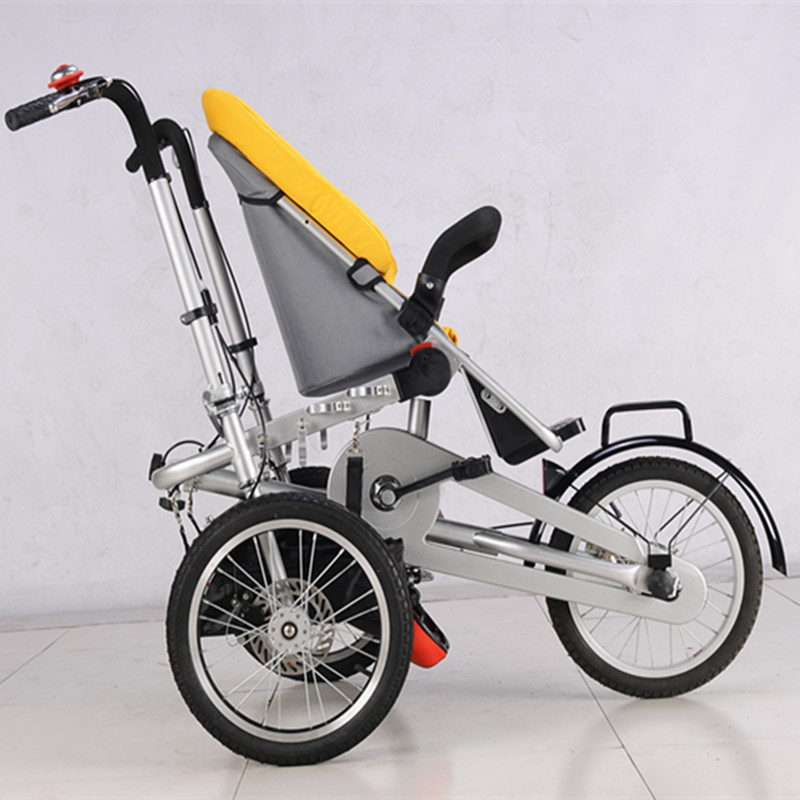 2017 Baby and Mommy HandPush Bike Stroller 3 wheel Baby Boy Girls Strollers Pushchair Kids Folding Strollers 3 in 1 Prams Yellow avoid the ultraviolet radiation with the canopy pushchair baby build a safe soft environment for babies boys and girls pushchair
