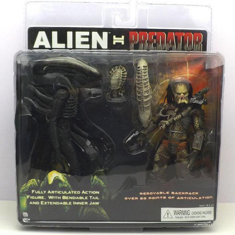 NECA Alien VS Predator Tru Exclusive 2-PACK PVC Action Figure Toy 7 18cm neca alien lambert compression suit aliens defiance xenomorph warrior alien pvc action figure collectible model toy 18cm