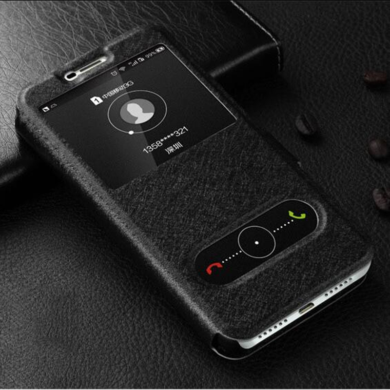 For Samsung Galaxy A10 A30 A40 A50 A70 Case Flip Luxury Quick View Window Case For Samsung A6S A8S Cover PU Leather Phone Cases