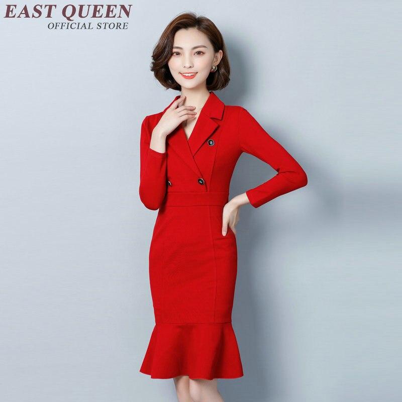 C D'hiver Femmes Vêtements Mode Pour 1 Robes 2018 Automne Robe Dd105 Bureau D'affaires Élégante wf7qn