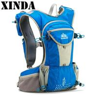 High Quality 12L Outdoor Sport Running Backpack Marathon Trail Running Hydration Vest Pack Cycling Hiking Bag Blue Black Red