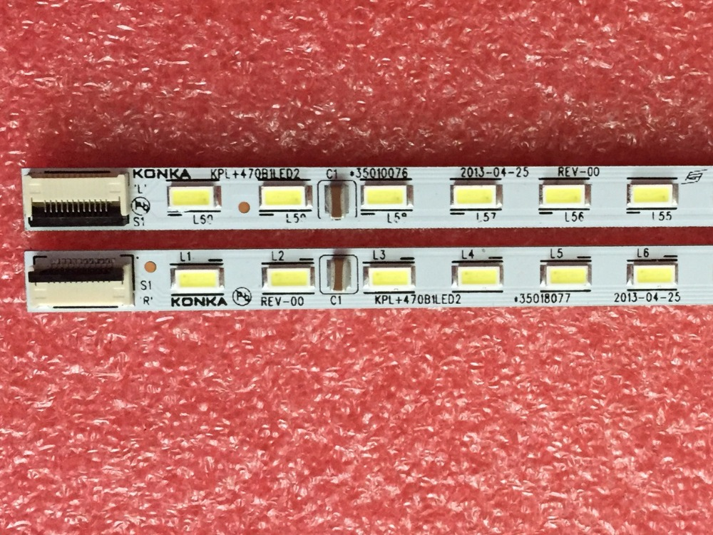 1pair X Original LED TV Backlight Strips For Konka LED47R5500PDF KPL+470B1LED2 35018081  Aluminum Plate