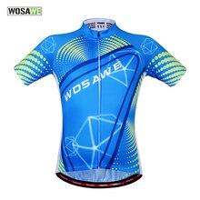 WOSAWE Summer Men's Cycling Jersey Short Sleeve Bike Shirts Cycling Clothing Bicycle MTB Sportswear Summer Fitness Tops