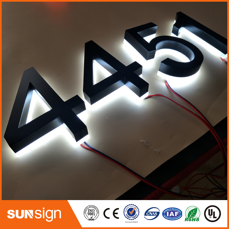 Acrylic Backs Golden Color Backlit Light Up Signs Letter