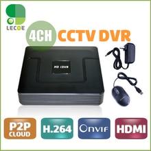 4 Channel CCTV Digital Video Recorder H.264 CCTV DVR Recorder P2P Cloud 4ch Full D1 Up to HD 1920*1080 CCTV DVR Recorder