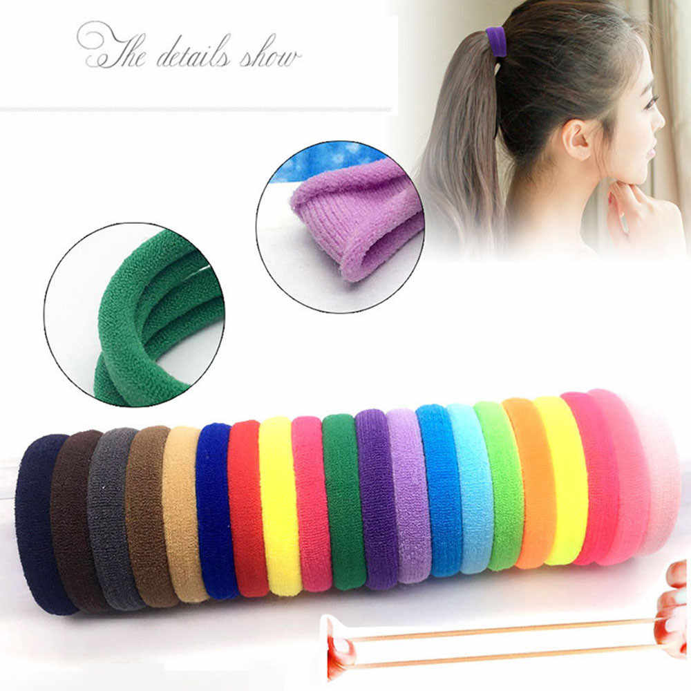 10/20/100 pcs Hair Bands for beautifully women's Girls Elastic Hair Ties Band Rope Ponytail Bracelet colorful lowest price #10