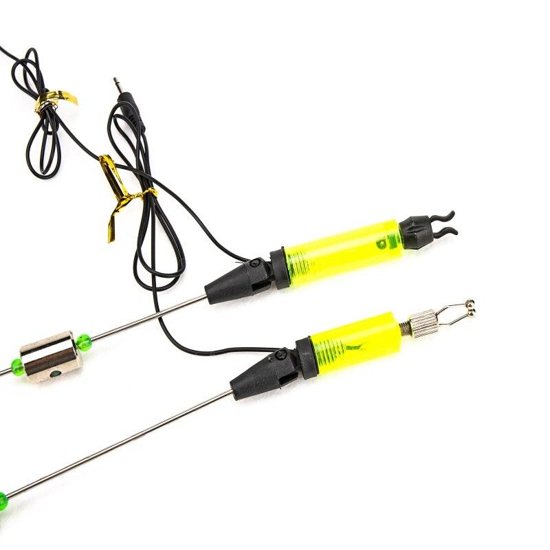 Pratical New Outdoor Fishing Alarm Iron Fishing Bite Hanger Swinger LED Illuminated Indicator Fishing Tackle Tools