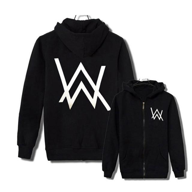 HOT SALE Alan Walker DJ Hoodies High Quality Hooded Sweatshirt Men Women Hip Hop Streetwear Zipper Hoodie Casual Brand Clothing
