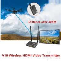 Más de 30KM de transmisión de imagen inalámbrica HDMI 100-900Mhz Full HD 1080P COFDM Digital FPV transmisor de vídeo inalámbrico