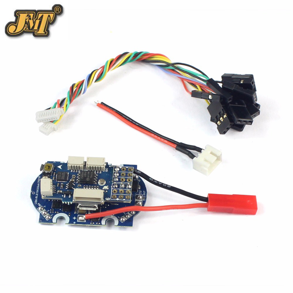 JMT 4in1 ESC + Flight Controller for 90GT 95GT 110GT RC Racing Drone Quad copter Quadrocopter 100a multicopter multi quad copter power battery to 16 esc connection board