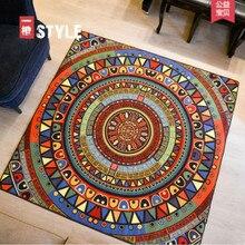 Length 2000mm exotic carpet square compass Colorful geometric tapis living room sofa table mat non-slip alfombra / polypropylene