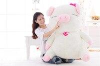 Мягкая игрушка Огромный 100 см мультфильм свинья куклы, мягкие плюшевые игрушки, обнимая подушку украшения дома подарок на день рождения h2845