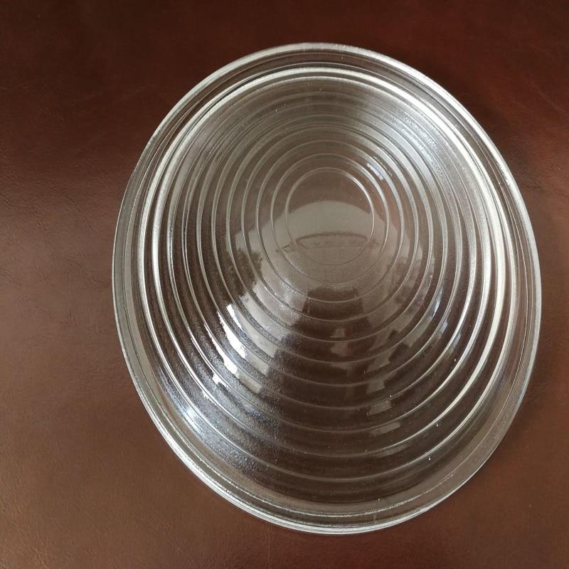Diameter130mm EFL70mm Round Glass Spotlight Fresnel Lens for Stage Lamp Magnifier Threaded Lenses 2pcs 150mm big optical pmma plastic round solar condensing compound eye fresnel lens improving brightness of light focal length