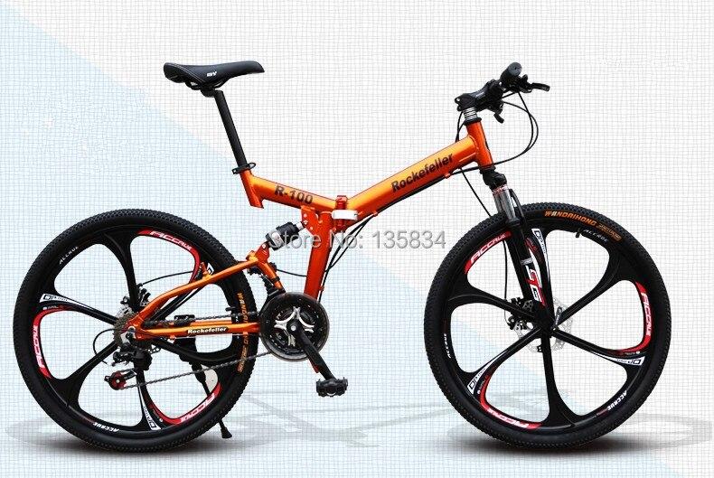 Roues en alliage de magnésium B39-Rockefeller-21-Vitesse-Vtt-Vélo-Pliant-26-Bicicletas-Hommes-Vtt-Bycycle-Bicicleta-R100-Vtt